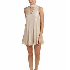 J.O.A choker neck shift dress